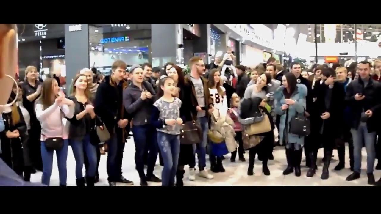 Песенный флешмоб ТРЦ Мега Ростов-на-Дону Новочеркасск 17.12.2016г.