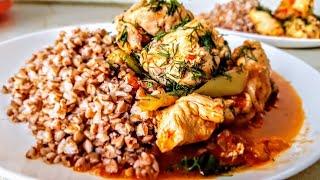 Цыплёнок в томатном соусе с гречкой Цыганка готовит. Курица в соусе. Gipsy kitchen.