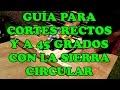 Guia para cortes a 90 y 45 con la sierra circular - Circular Saw CrossCut & miter Jig