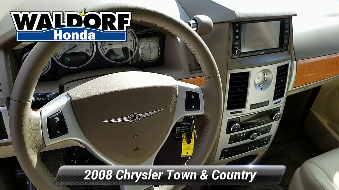 Town And Country Honda >> Used 2008 Chrysler Town Country Limited Waldorf Md