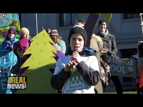 Kids Demand that Adults Stop Destroying the Planet