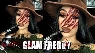 GLAM FREDDY KRUEGER   Halloween Makeup Tutorial