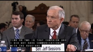 Sessions .I Did Not Have Communications With The Russians. During his confirmation hearing for Attorne