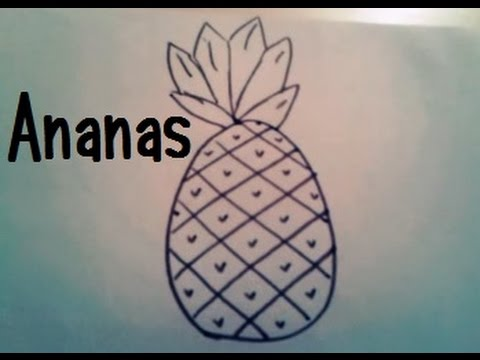 dessiner un ananas youtube. Black Bedroom Furniture Sets. Home Design Ideas