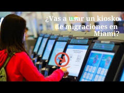 Cómo Usar Los Kioskos De Migraciones En El Aeropuerto De Miami