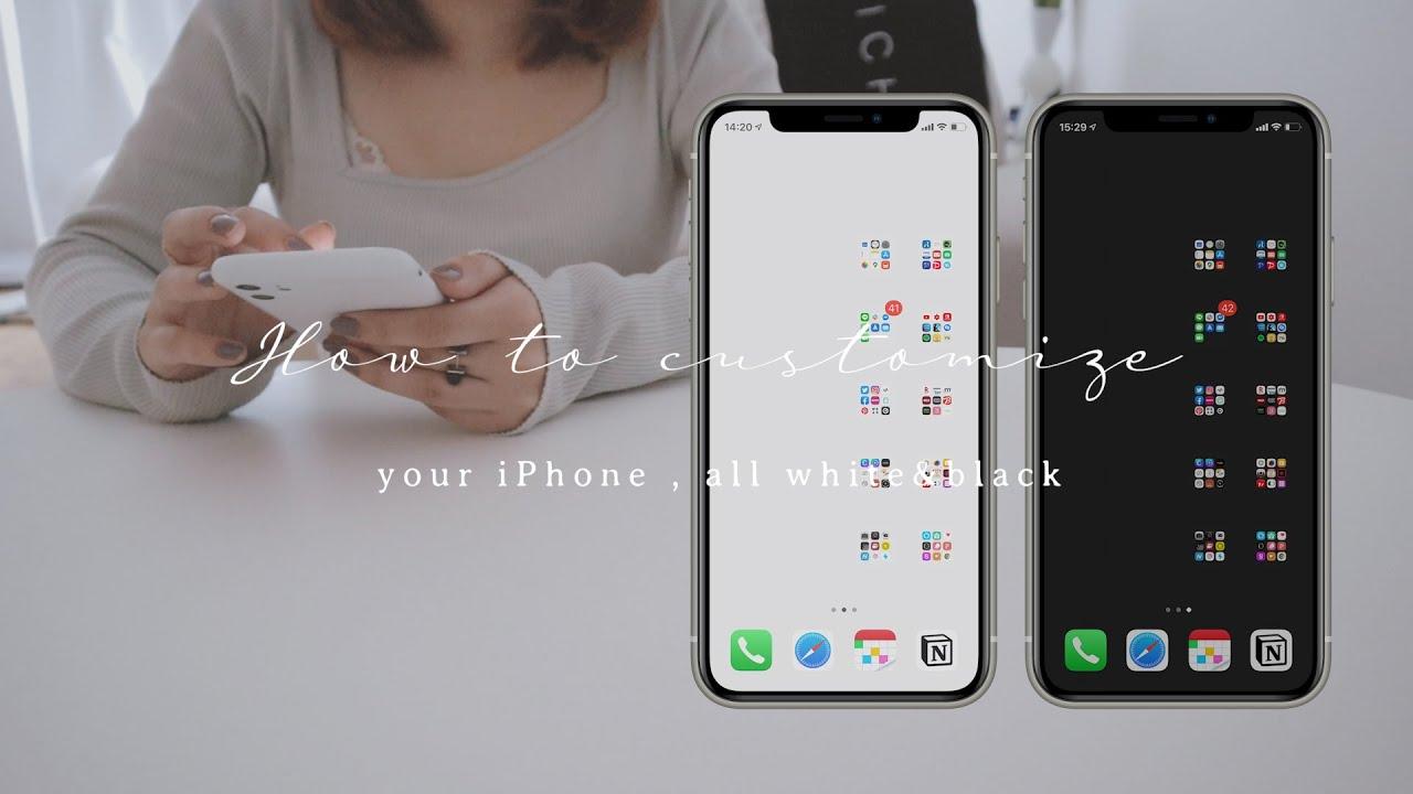 How To Customize 22歳デザイナーが教えるiphoneのホーム画面を全部白 黒 にする方法 Youtube