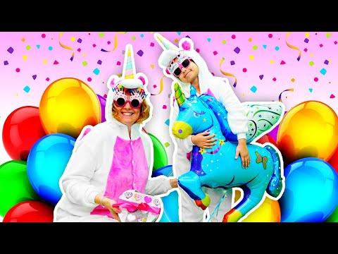 Милые Единорожки в видео для детей - Сюрприз на День Рождения! – Игры для девочек.