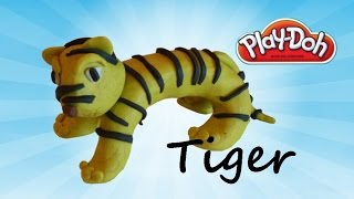 how to make tiger for kids using modelling clay play doh