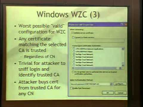 Shmoocon 2008 - PEAP Pwned Extensible Authentication Protocol - Josh Wright and Brad Antoniewicz.mp4