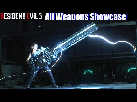 RE3 All Weapons Unlocked Showcase - Resident Evil 3 Remake 2020