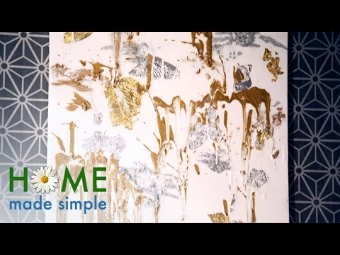 Make a Splash with Dazzling Precious Metals Art | Home Made Simple | Oprah Winfrey Show