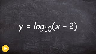 algebra 2 graphing a logarithmic function with transformations y log10 x 2