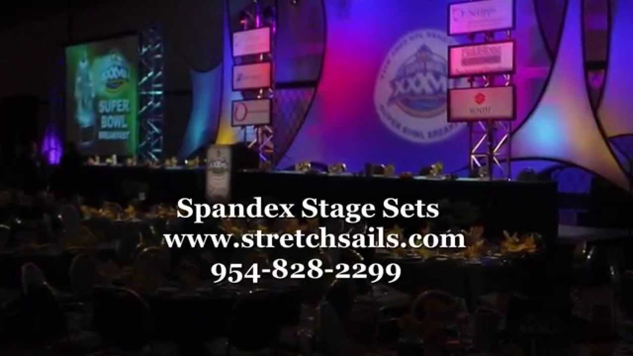 Stage Set Design Ideas - http://www.stretchsails.com/ - YouTube
