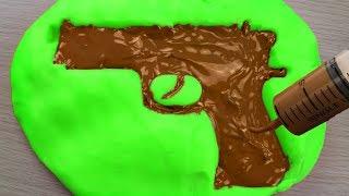 איך להכין רובה שוקולד אכיל DIY (יורה כדורי שוקולד)