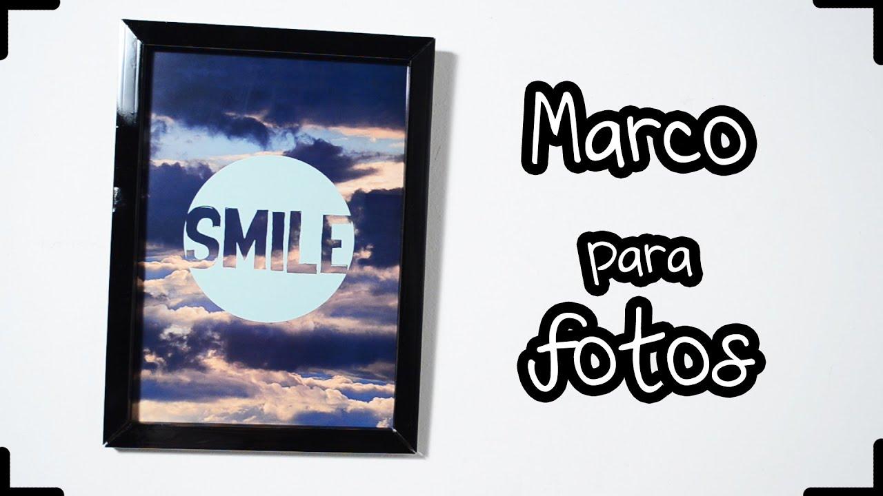 DIY: COMO ENMARCAR FOTOS E IMÁGENES! Super económico!! - YouTube
