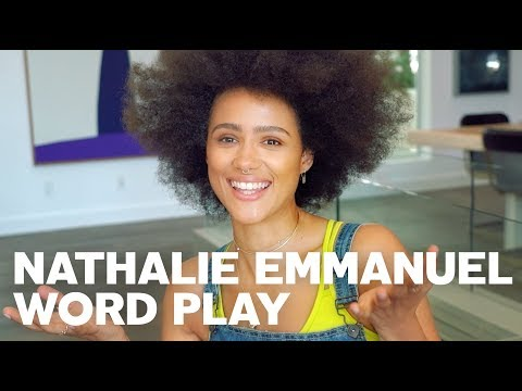 Nathalie Emmanuel for RAW's Word Play