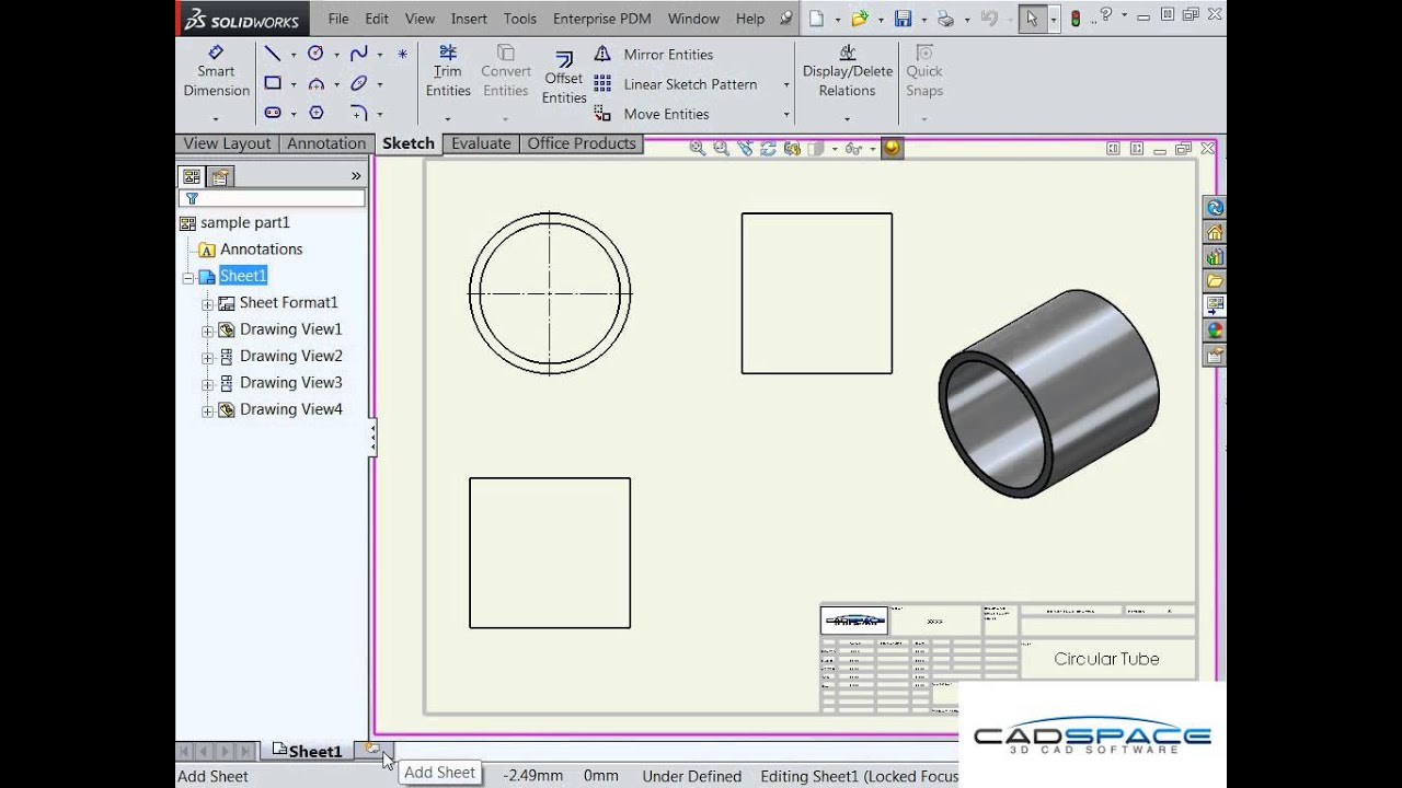 How to setup your solidworks drawing template youtube for Solidworks drawing template tutorial