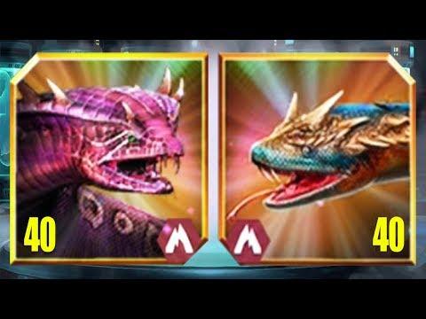 GIGANTOPHIS Vs TITANOBOA - Jurassic World The Game