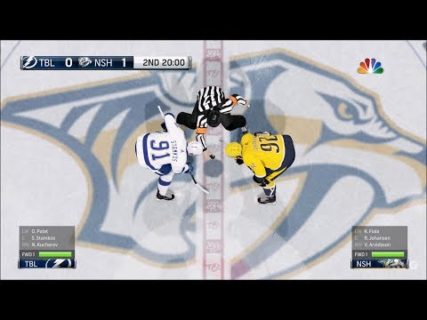 NHL 18 - Nashville Predators vs Tampa Bay Lightning - Gameplay (HD) [1080p60FPS]