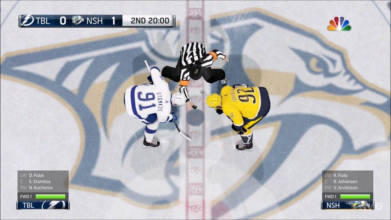Nhl 18 Nashville Predators Vs Tampa Bay Lightning Gameplay Hd 1080p60fps