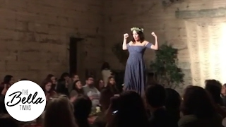 brie bella models a natural look on the catwalk at a charity fashion show