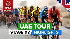 UAE Tour Stage 3 Highlights | Al Qudra Cycle Track › Jebel Hafeet