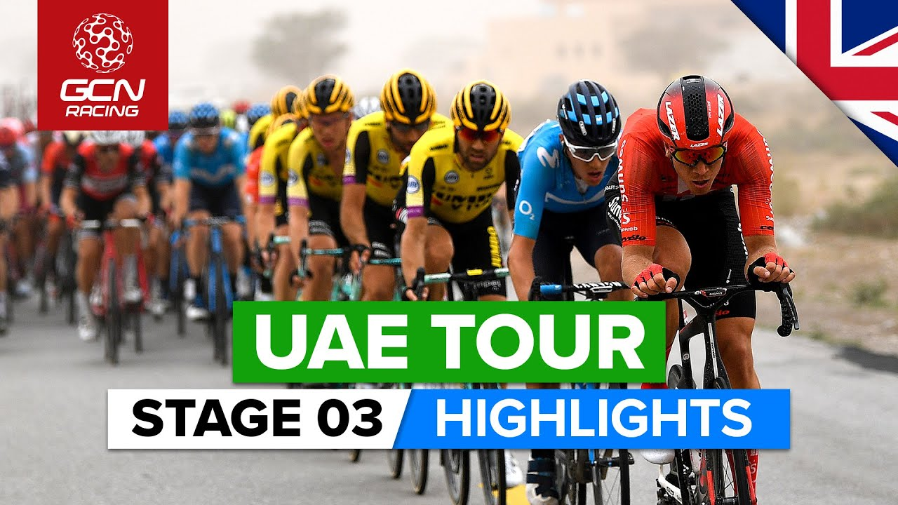 UAE Tour Stage 3 Highlights | Al Qudra Cycle Track › Jebel Hafeet - YouTube