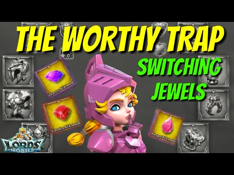 Switching Jewels To Level 60 Gear! - Lords Mobile