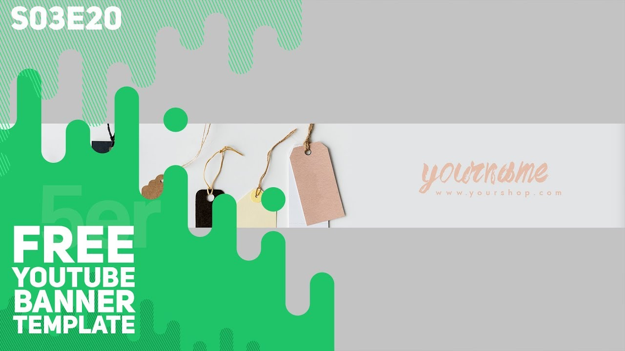 Free Youtube Banner Template Online Shop 5ergiveaways S03e20