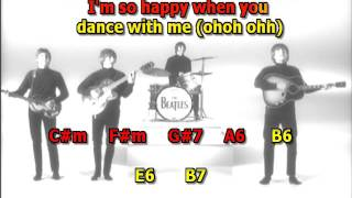 I'm Happy Just To Dance With You Beatles best karaoke instrumental lyrics chords