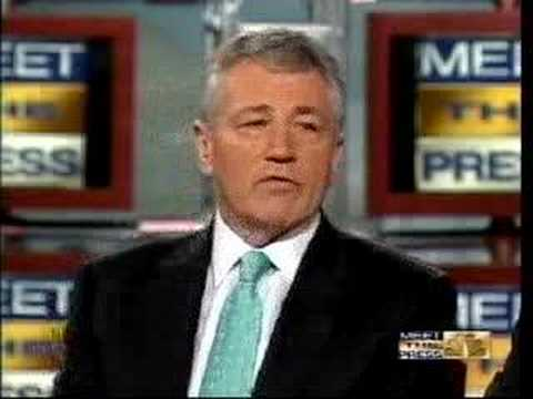Joe Lieberman gets ripped apart by Chuck Hagel on MTP