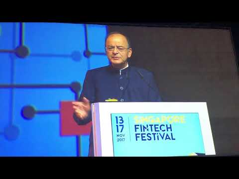 Shri Arun Jaitley at Singapore Fintech Festival