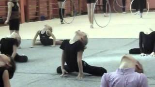 открытый урок по гимнастике...9