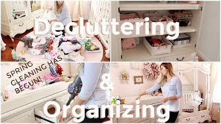 DECLUTTERING & ORGANIZING NURSERY | SPRING CLEANING | EXTREME CLEANING MOTIVATION