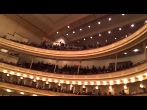 A quick insiders box tour of Carnegie Hall