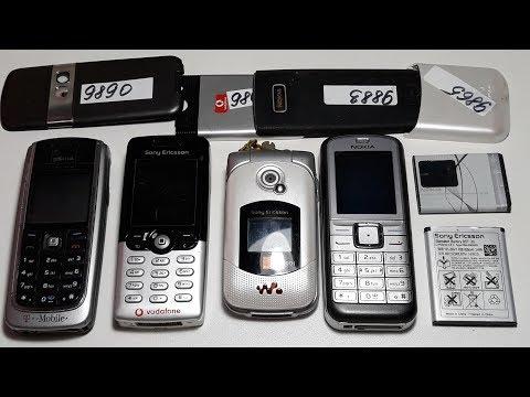 Проверка ретро телефонов из Германии часть 1. Sony Ericsson T610, Sony Ericsson W300i, Nokia 6070