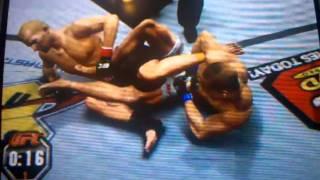 UFC 2010 - BJ بن vs إنشاء مقاتلة قفل الكاحل