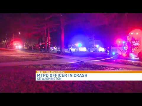 MTPD officer in crash that downed Pepco pole