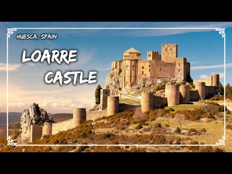 Visiting the Loarre castle, Huesca Spain