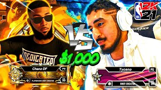 TYCENO CHALLENGED ME TO A $1000 WAGER ON NBA2K21 AND THIS IS WHAT HAPPENED...