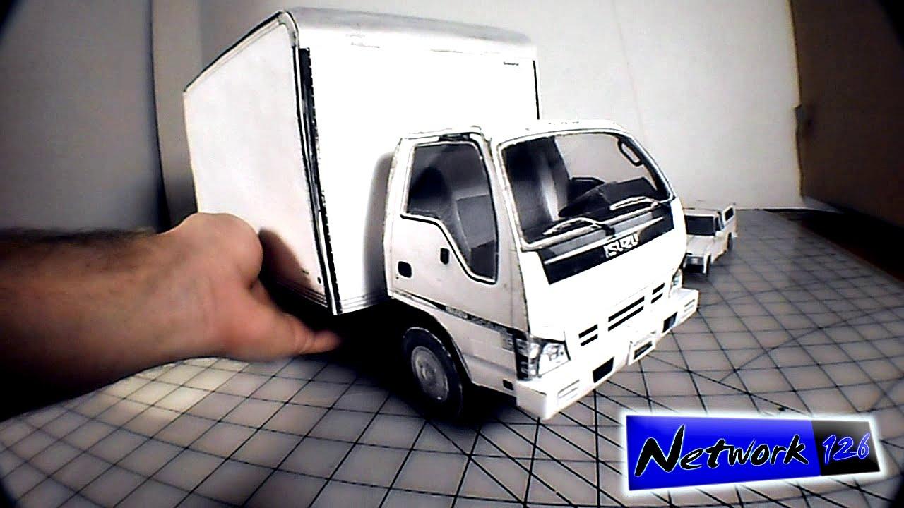 Brians 3D Cardboard Model Truck