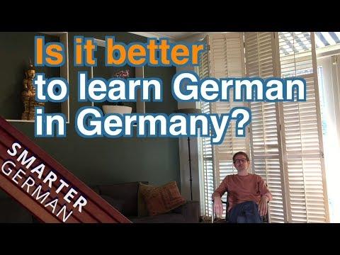 Is it better to learn German in Germany?