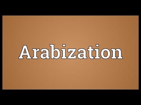 Arabization Meaning