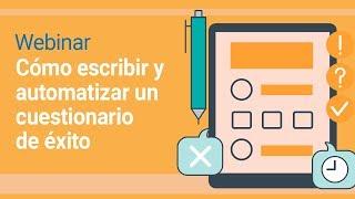 Webinar | Cómo escribir y automatizar un cuestionario de éxito | SoftExpert