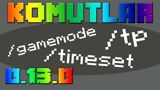 Minecraft PE (Pocket Edition) - KOMUT KULLANMA MODU 0.13.0!!! - Commands Mod for MCPE