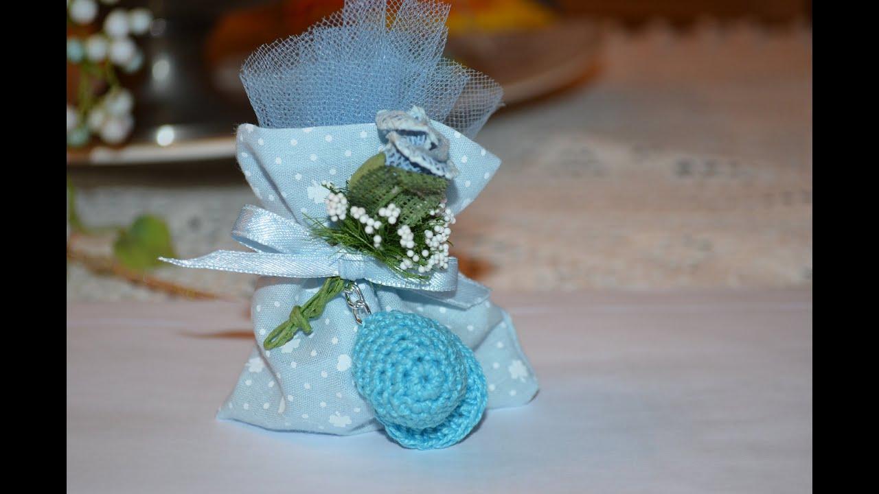 Favoloso Bomboniera nascita all'uncinetto - Crochet favor - YouTube NE32