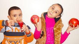 مريومة واخوها يبيعون عصاير فريش!!! Marioma Pretend Play Selling Fresh Juice