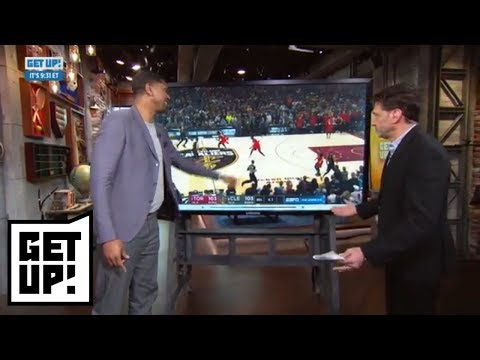 Jalen Rose and Mike Greenberg break down film of LeBron James' Game 3 buzzerbeater  Get Up!  ESPN
