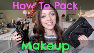How to Pack Makeup for Travel | Airplane, Roadtrip, & More! Thumbnail