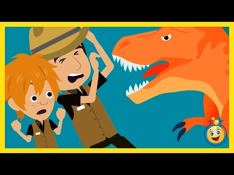 Thumbnail: GIANT T-REX Attack Park Ranger Aaron, LB Animated Cartoon Jurassic Adventure Dinosaur Movies w/ Hulk